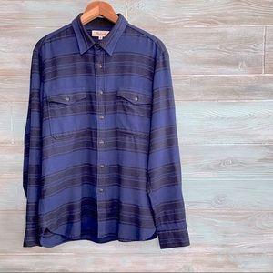 Madewell Brushed Twill Cotton Shirt Blanket Stripe